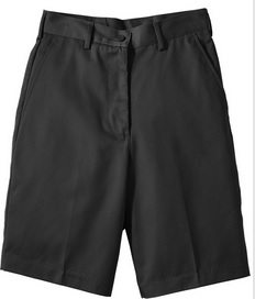 EDWARDS WOMENS POLY/COTTON FLAT FRONT SHORTS