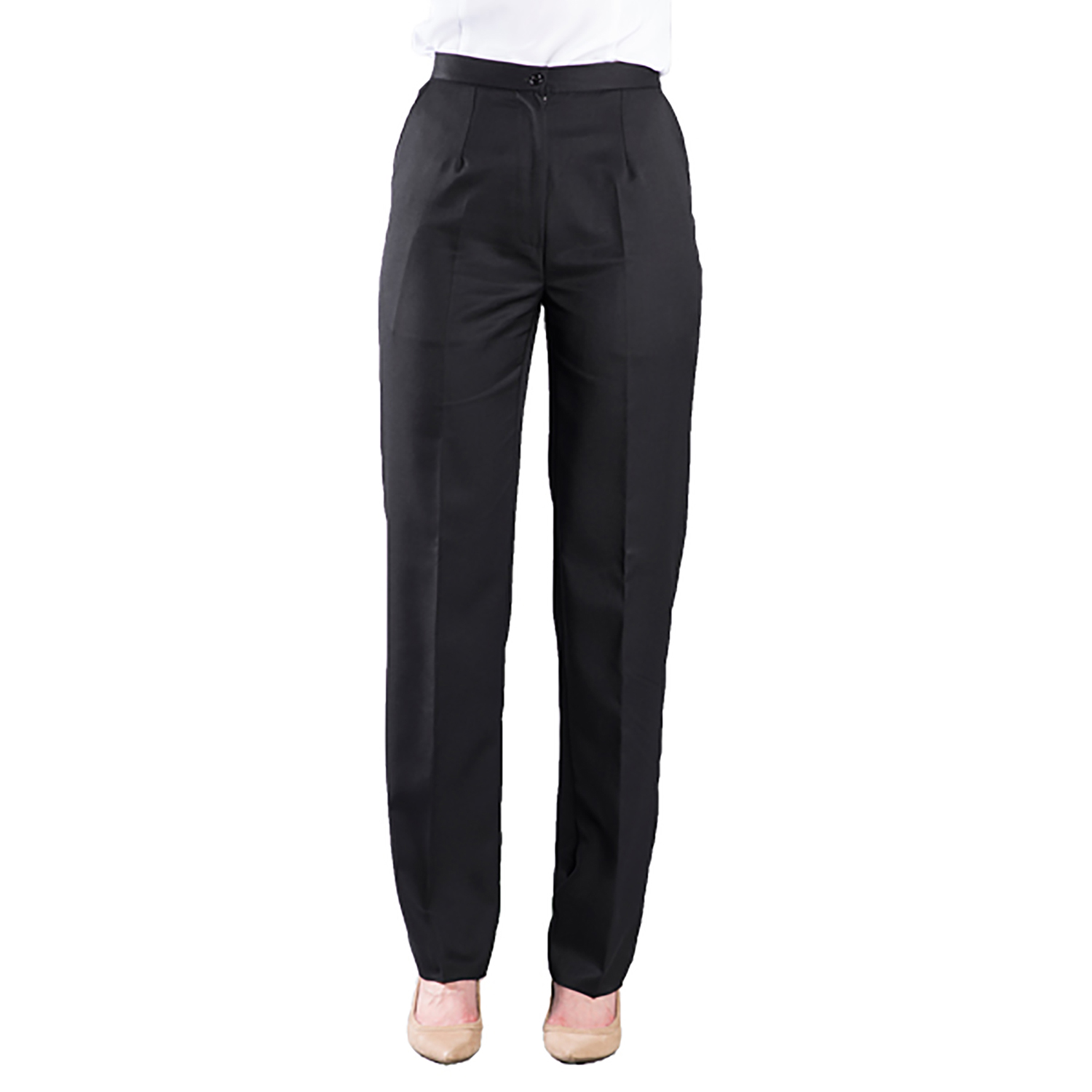 Executive Apparel Womens Tailored Front Easywear Pants
