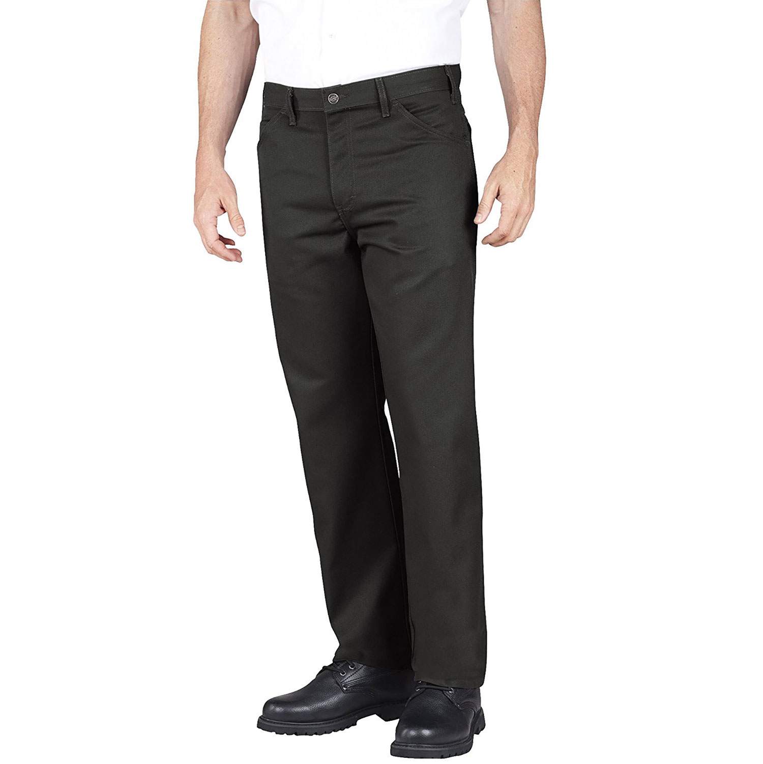 Dickies Men's Regular Fit Five Pocket Stay Dark Pant