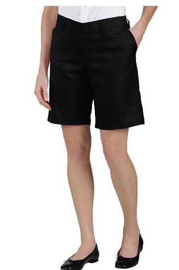 "Dickies Women's 9"" Relaxed Fit Flat Front Shorts"