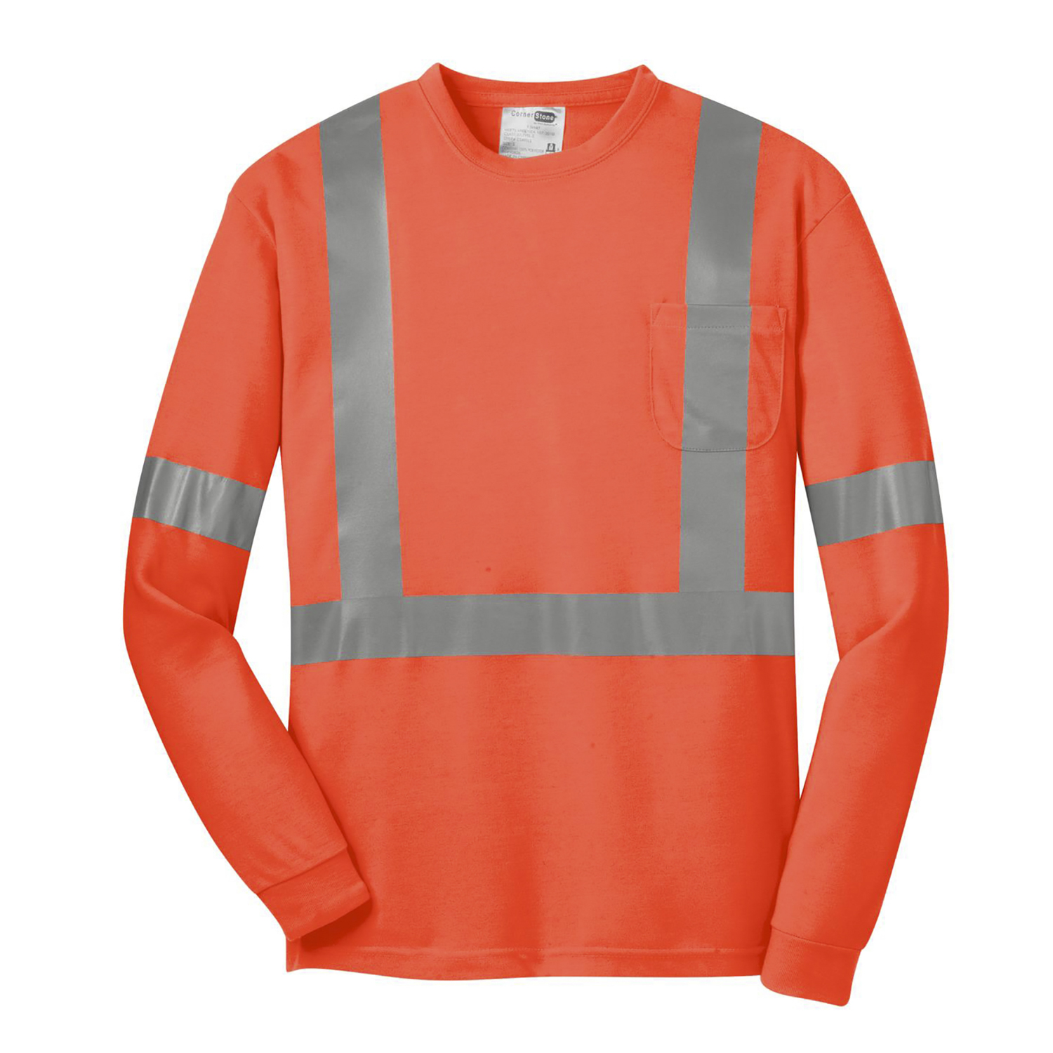 CornerStone ANSI 107 Class 2 Long Sleeve Safety T Shirt