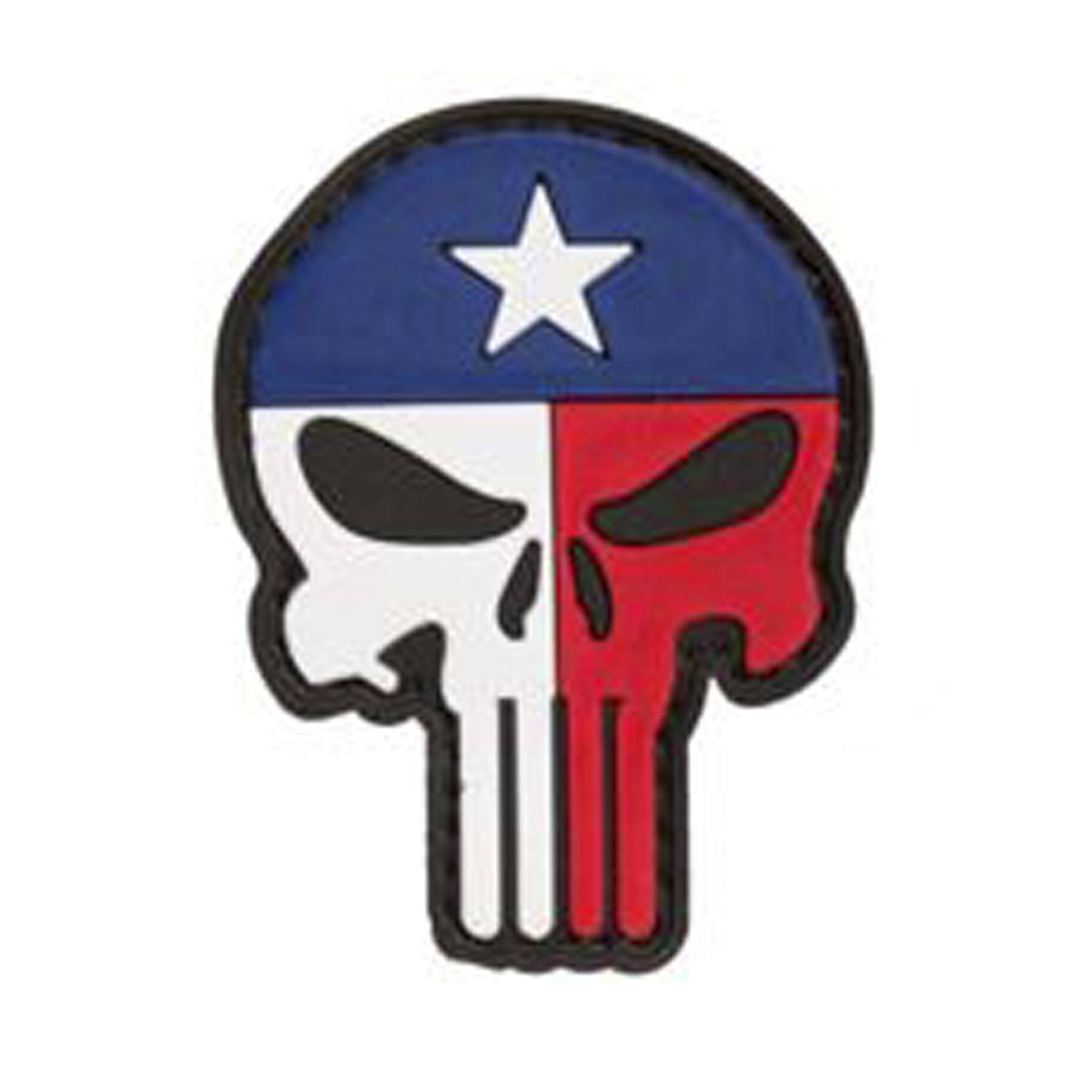 Punisher Skull Texas Flag Face