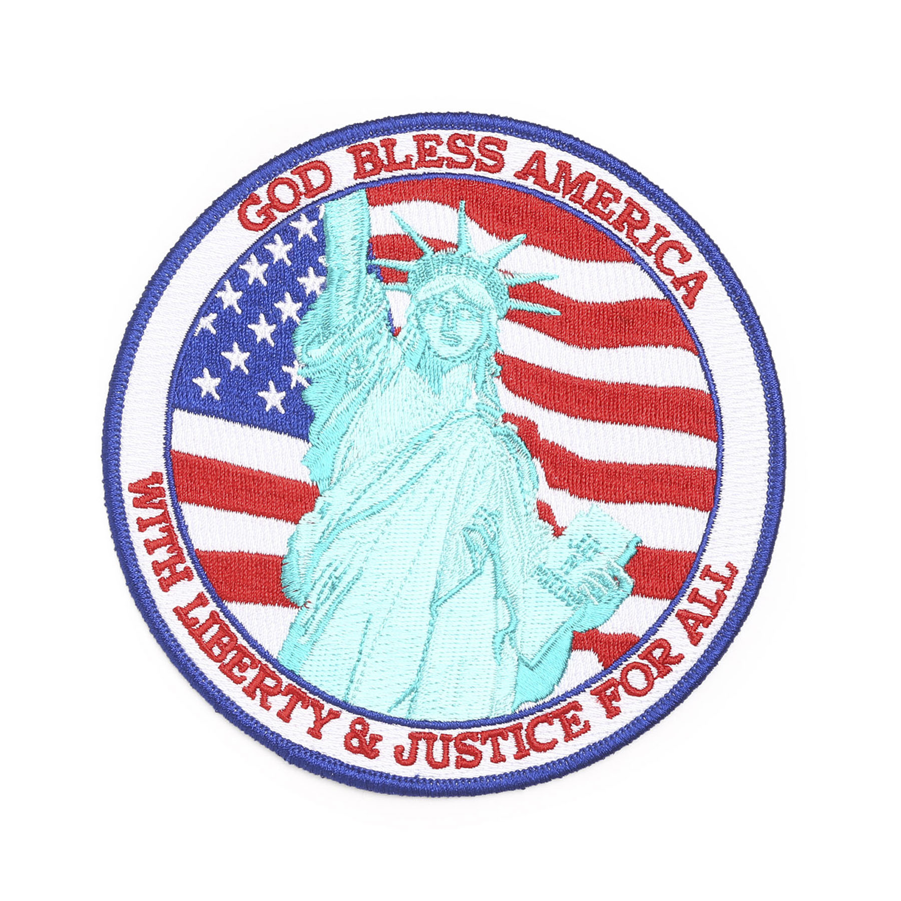 Hero's Pride Lady Liberty God Bless America Patch