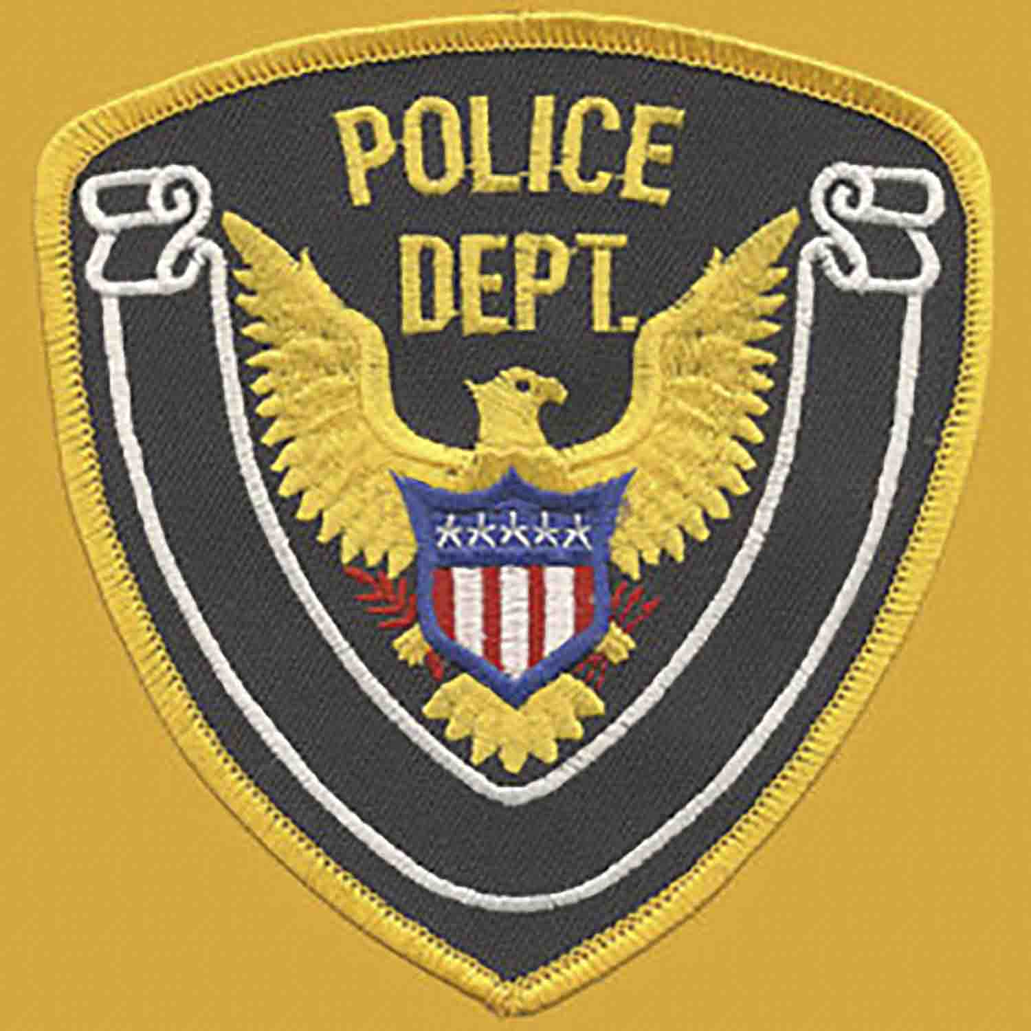 Premier Emblem Police Department Eagle Patch with Gold Borde