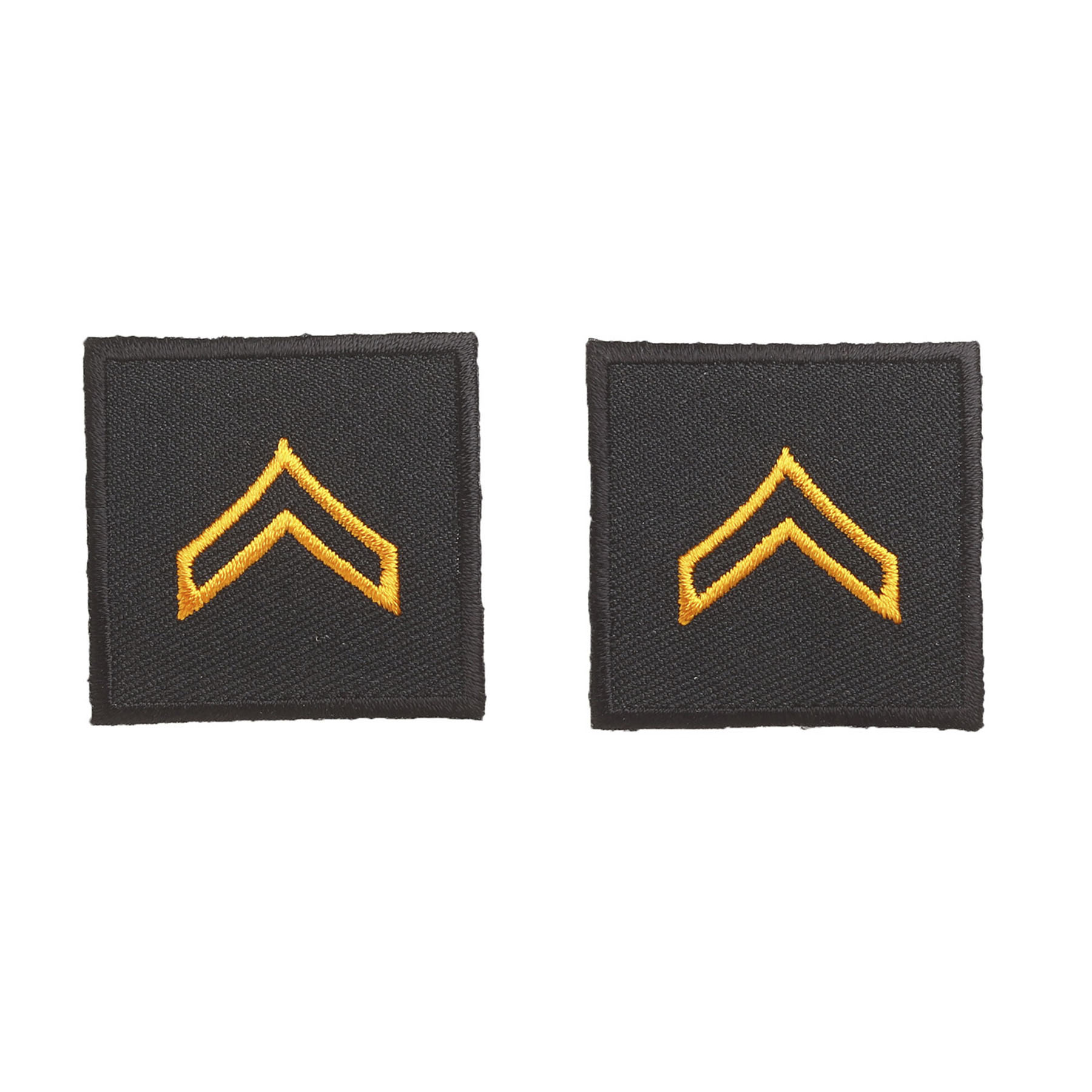 "Hero's Pride Embroidered Rank 1-1/2"" x 1-1/2"""