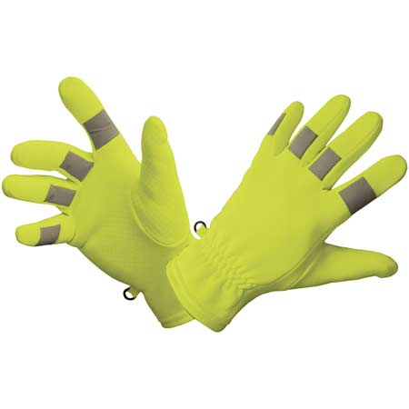 Gloves For Professionals Hi Vis 4 Way Stretch Traffic Glove