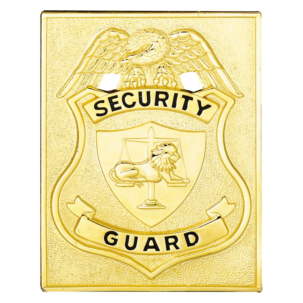 LawPro Square Security Guard Shield, Badge