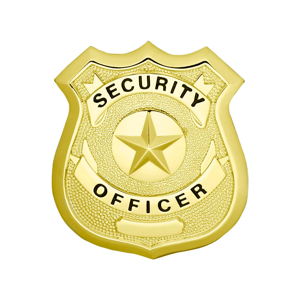 LawPro Security Officer Shield with Star Badge