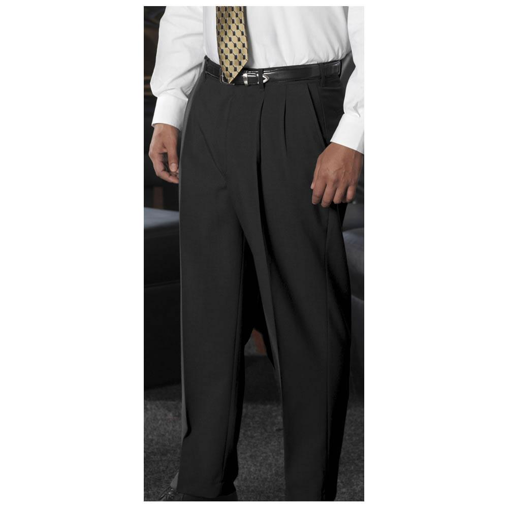 Edwards Wool Blend Flat Front Dress Pant