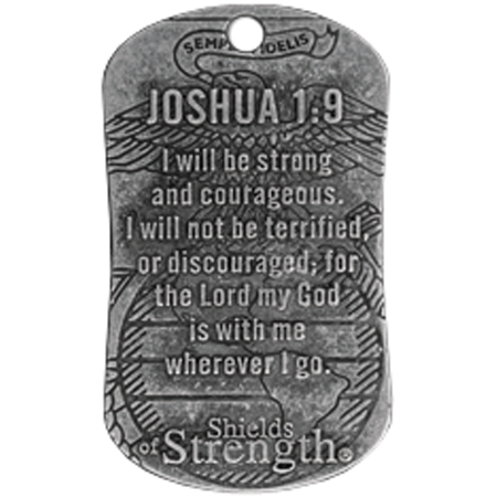 SoS USMC (Joshua 1:9) Dog Tag & Chain